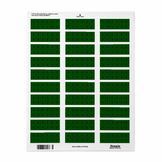 Geld-Zeichen auf grünem kleinem Extraaufkleber Rücksendeetikett
