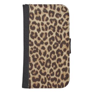 Geldbörsen-Kasten Leopard-Druck-Samsung-Galaxie-S4 Galaxy S4 Portmonnaie
