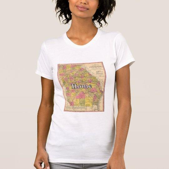 Geldstrafe-Georgia GA der Frauen amerikanische T-Shirt
