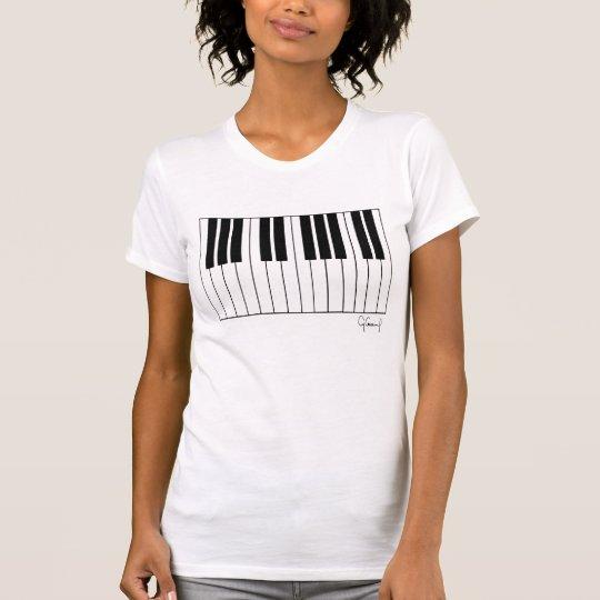 Geldstrafe-Jersey-T - Shirt KLAVIER Frauen