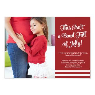 Gelee-Schwangerschafts-Mitteilung, die 12,7 X 17,8 Cm Einladungskarte