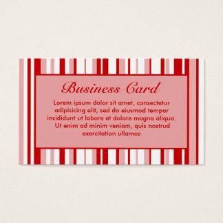 Gelegentliche Streifen rot + Kundenspezifische Visitenkarte