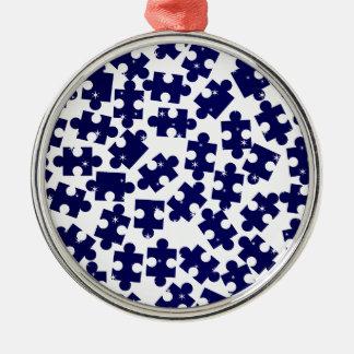 Gelegentliche zackige Stücke Rundes Silberfarbenes Ornament