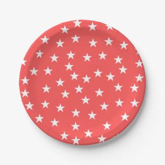 Gelegentlicher roter und weißer pappteller 17,8 cm