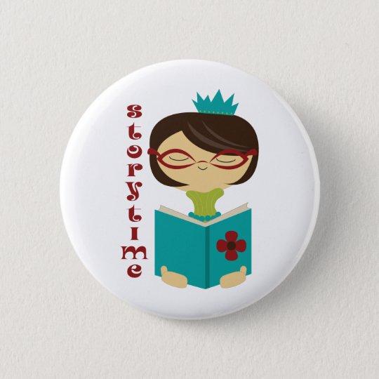 Gelehrte Storytime Lesedame Librarian Gift Runder Button 5,1 Cm