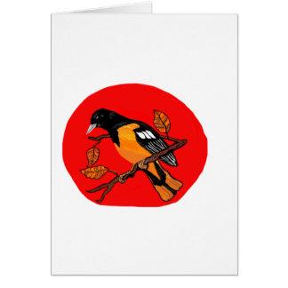 gelesenes der Vogelkunst mutiges und schwarzes Karte