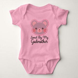 Geliebt durch meinen Patin-Baby-Mädchen-T - Shirt