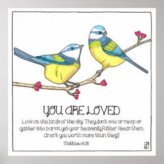 Geliebtes Vogel-Plakat Poster