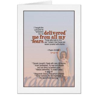 Geliefert von der Furcht - Psalm 34 Karte