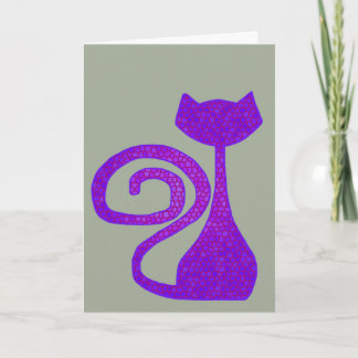 Curly-Tail Cat Greeting Cards