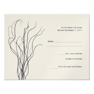 Gelockte Weide-Hochzeit UAWG Wartekarte 10,8 X 14 Cm Einladungskarte