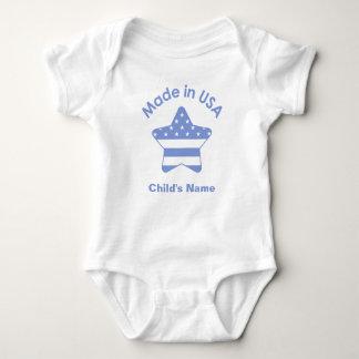 Gemacht im USA-Baby-Blau-T - Shirt