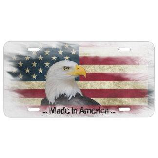 Gemacht in Amerika, beunruhigte Weißkopfseeadler, US Nummernschild
