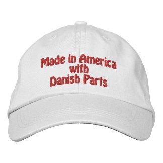 Gemacht in Amerika mit dänischen Teilen Bestickte Baseballkappe