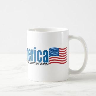 Gemacht in Amerika mit schottischen Teilen Kaffeetasse