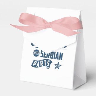 Gemacht in Amerika mit serbischen Teilen Geschenkschachtel