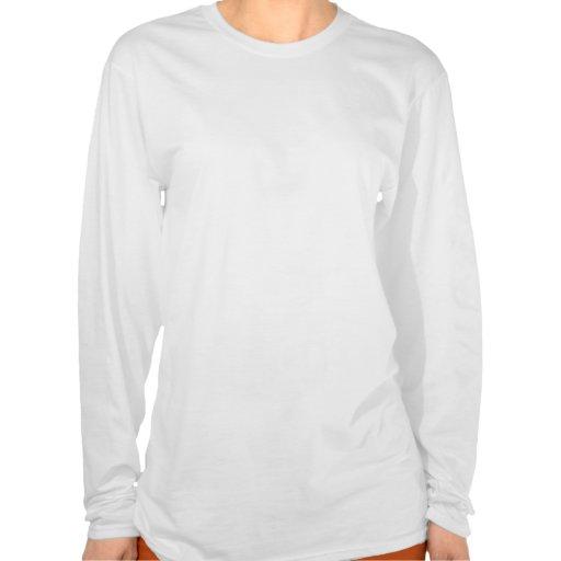 Gemacht in der USA-Herz-Flaggen-Damen-langen Hülse Tshirt