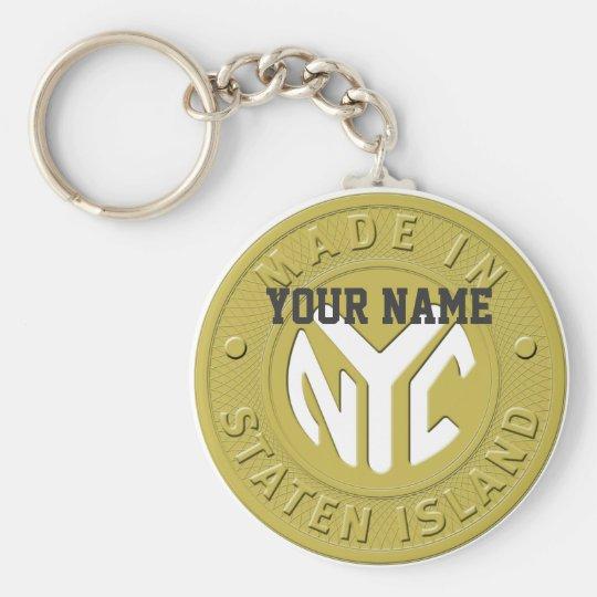 Gemacht in New York Staten Island Schlüsselanhänger
