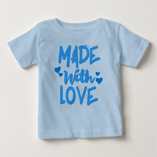 Gemacht mit Liebe-Baby-Jungen-T - Shirt