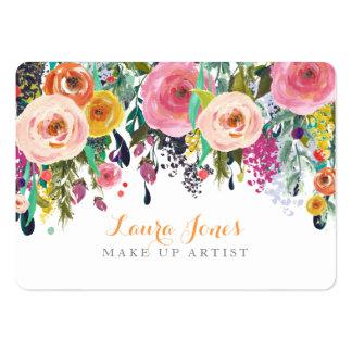 Gemalt mit Blumen bilden Sie Mini-Visitenkarten