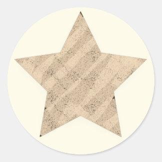 Gemalte Beschaffenheit 5 Punkt-Stern Runder Aufkleber
