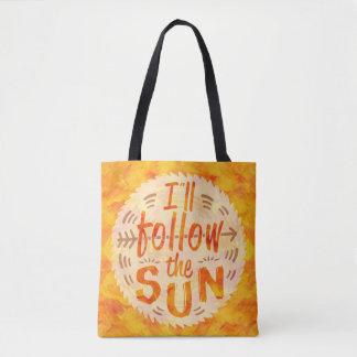 Gemalte die Sommer-sonnige Orange folgen Tasche
