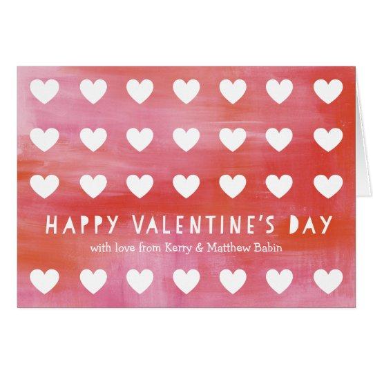 Gemalte Herz-Ausschnitt-Valentinstag-Gruß-Karte Karte