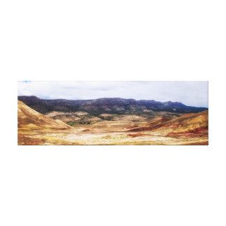 Gemalte Hügel für Meilen Leinwanddruck