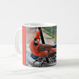Gemalte Kardinals-Kaffeetasse/Tasse Kaffeetasse