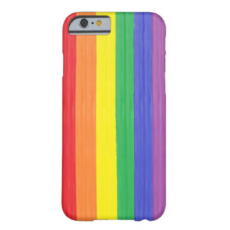Gemalte Regenbogen-Flagge Barely There iPhone 6 Hülle