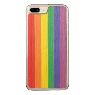 Gemalte Regenbogen-Flagge Carved iPhone 8 Plus/7 Plus Hülle