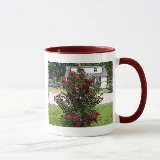 Gemalte rote Myrte Bush Tasse