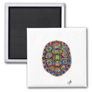 Gemalte Schildkröte-Muschel Quadratischer Magnet