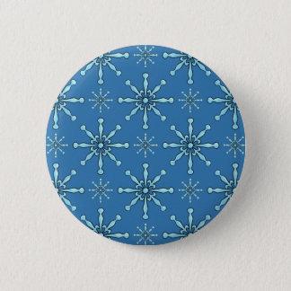 Gemalte Schneeflocken Runder Button 5,7 Cm