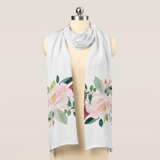 Gemalter Blumenpfingstrosen-Schal Schals