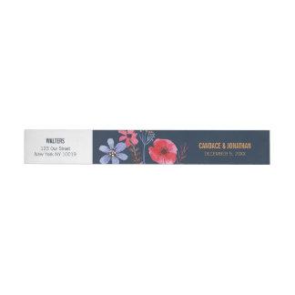 Gemalter Flora-Wickelrock-Aufkleber Rundum Adress Aufkleber