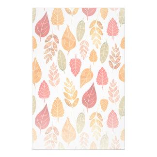 Gemalter Herbst verlässt Muster Briefpapier