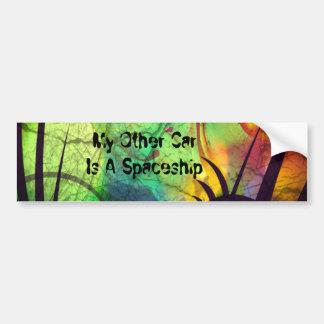 Gemalter Nebelfleck - Feuer-Opal abstrakt Autoaufkleber