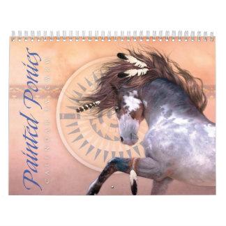 Gemalter Pony-Kalender Abreißkalender