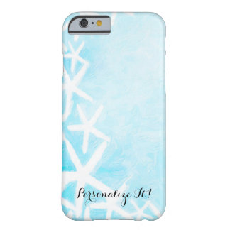 Gemalter Starfish-Aqua-blauer Beachy Sommer Barely There iPhone 6 Hülle