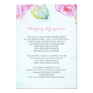 gemalter wedding Informationsblumeneinsatz 11,4 X 15,9 Cm Einladungskarte