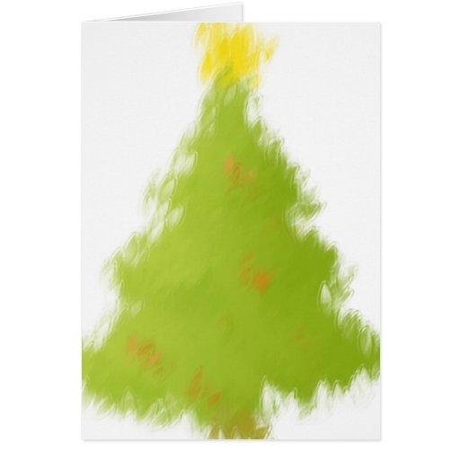 gemalter weihnachtsbaum karte zazzle. Black Bedroom Furniture Sets. Home Design Ideas