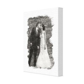 Gemalter weißer personalisierter (Hochzeits-) Leinwand Druck