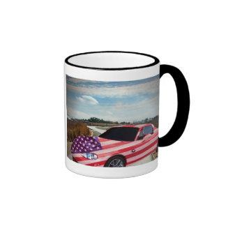 Gemaltes Auto U S Flagge, Tasse