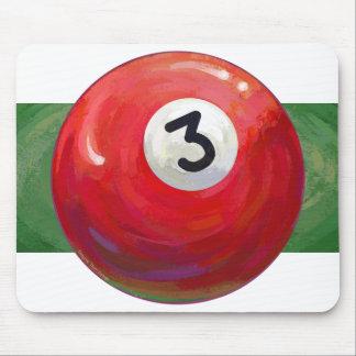 Gemaltes Ball-Muster des Pool-3 Mauspads
