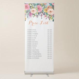 Gemaltes freies stehendes Geschäfts-Preis-mit Ausziehbarer Banner