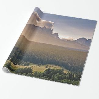 Gemaltes GebirgsPackpapier Einpackpapier