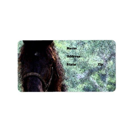 Gemaltes Pferd Adressaufkleber