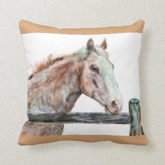 Gemaltes Pferdekissen Kissen
