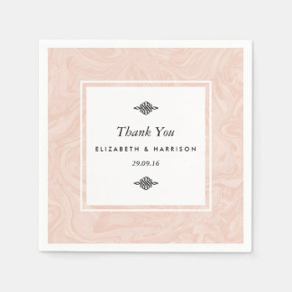 Gemarmorte Rosen-elegante Vintage Hochzeit Papierservietten